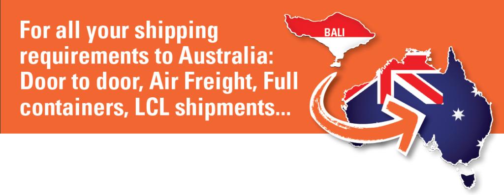 Shipping Bali to Australia