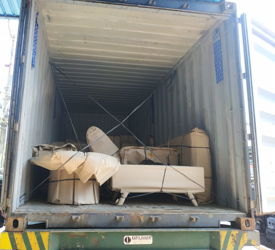 Bali container Packed
